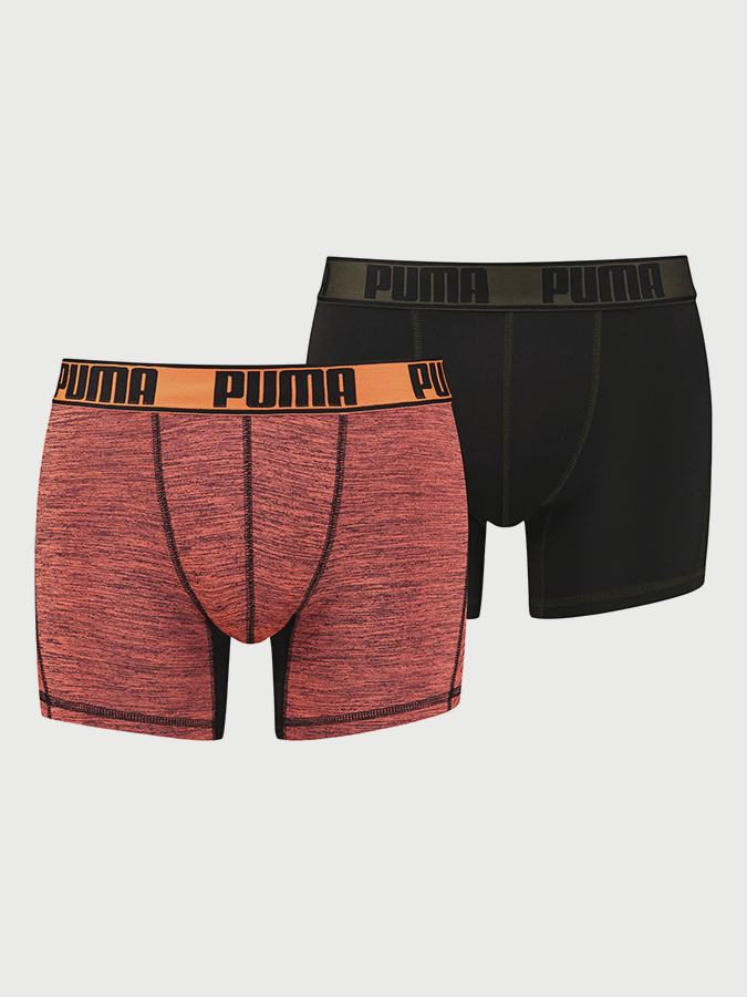 Boxerky Puma Active Grizzly Melange Boxer 2 Pack Packed Barevná