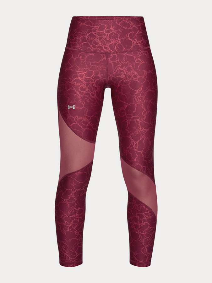 Kompresní legíny Under Armour Hg Ankle Crop Print Růžová