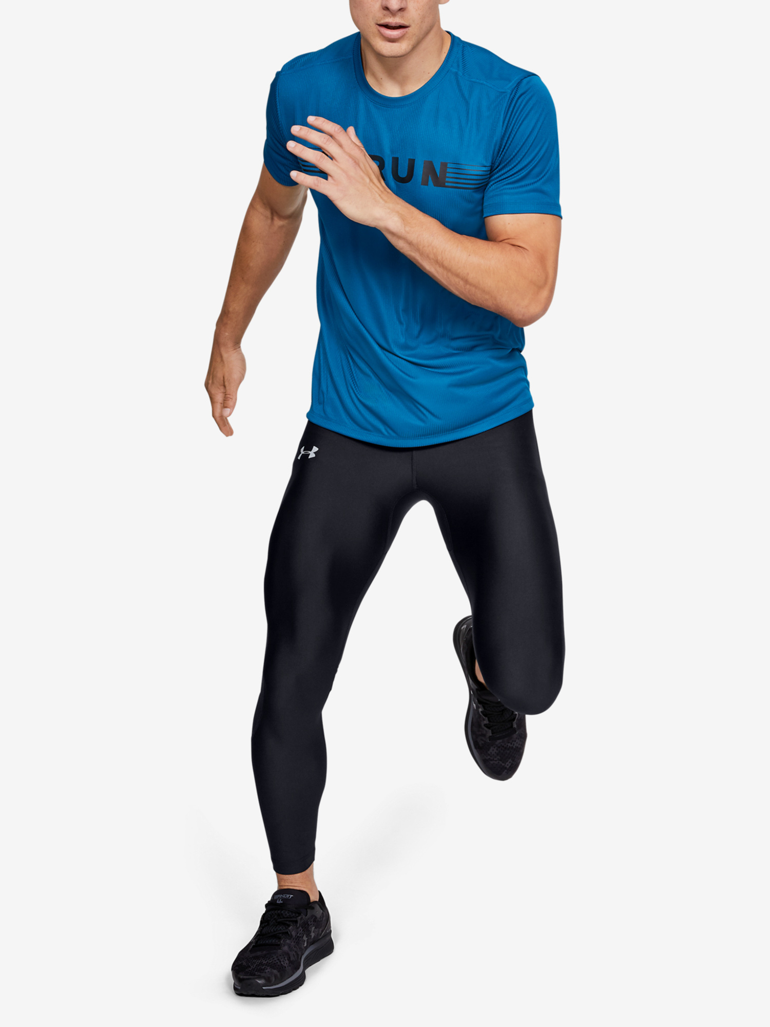 Kompresní legíny Under Armour Speed Stride Tight-Blk (6)