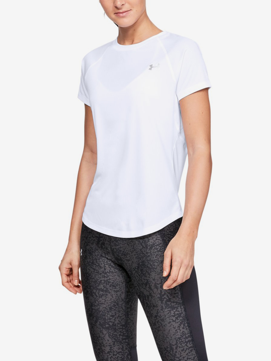 Tričko Under Armour Speed Stride Short Sleeve-Wht Bílá