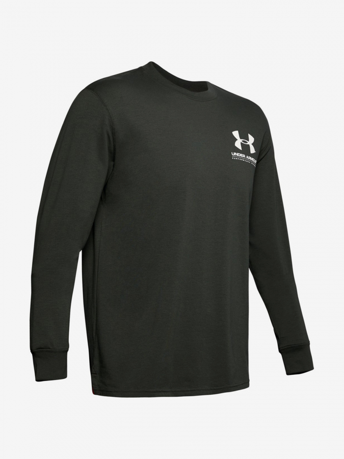 Tričko Under Armour Performance Originators Ls Tee-Grn Zelená
