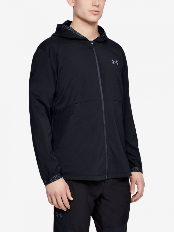Bunda Under Armour Vanish Woven Jacket-Blk Černá