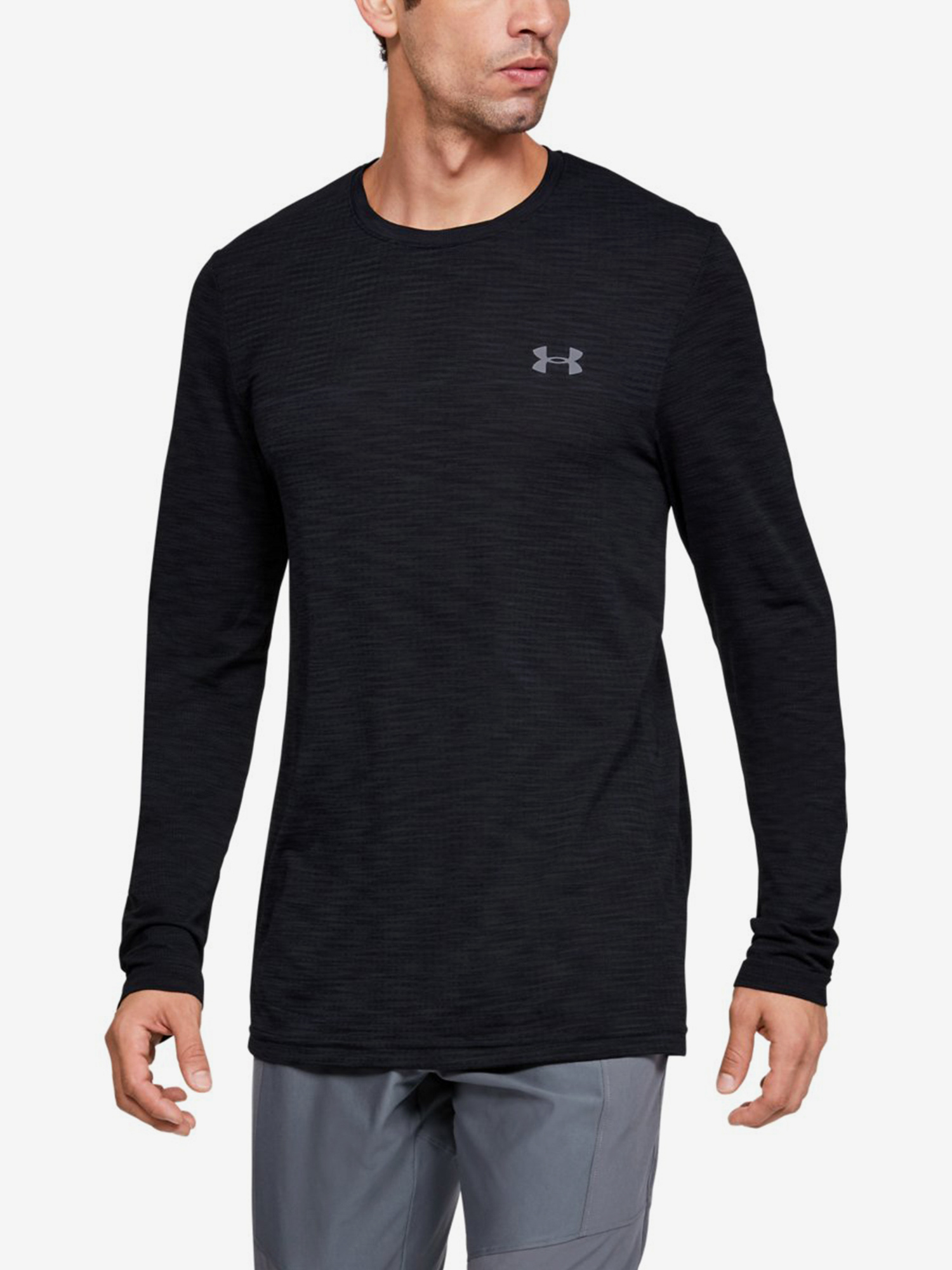 Tričko Under Armour Vanish Seamless Ls Nov 1-Blk Barevná