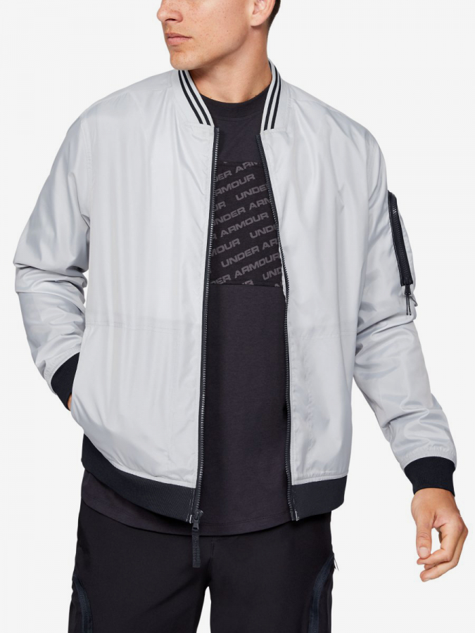 Bunda Under Armour Unstoppable Woven Bomber-Gry Šedá