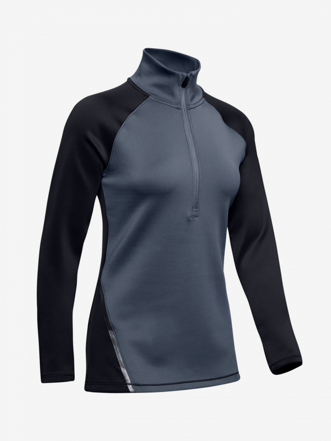 Tričko Under Armour Cg 1/2 Zip Color Block-Blk Barevná