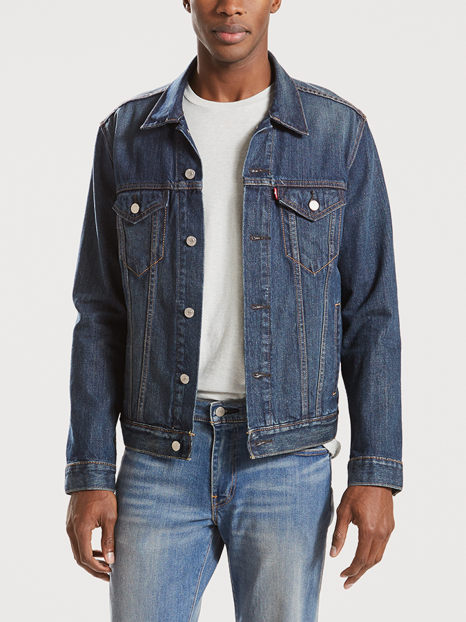 Bunda LEVI'S The Trucker Jacket Mugo Modrá