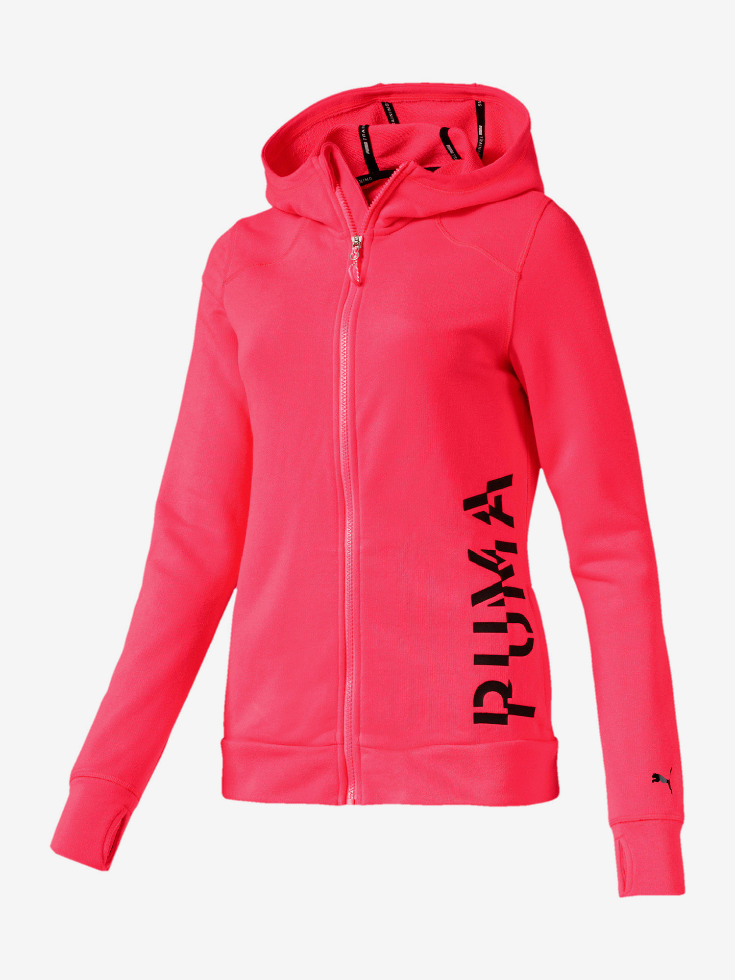 Bunda Puma Logo Sweat Jacket Růžová