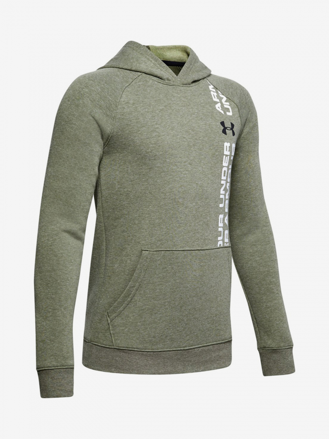 Mikina Under Armour Rival Wordmark Hoody-Grn Zelená