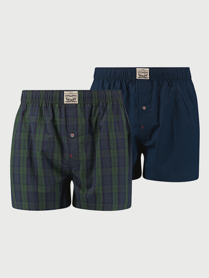 Trenýrky LEVI'S 300Ls Blackwatch Check Woven Boxer 2 Pack (1)
