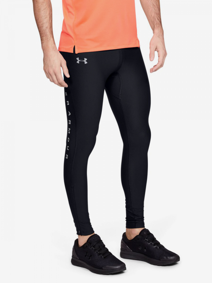Kompresní legíny Under Armour Qualifier Heatgear Glare Tight-Blk Černá