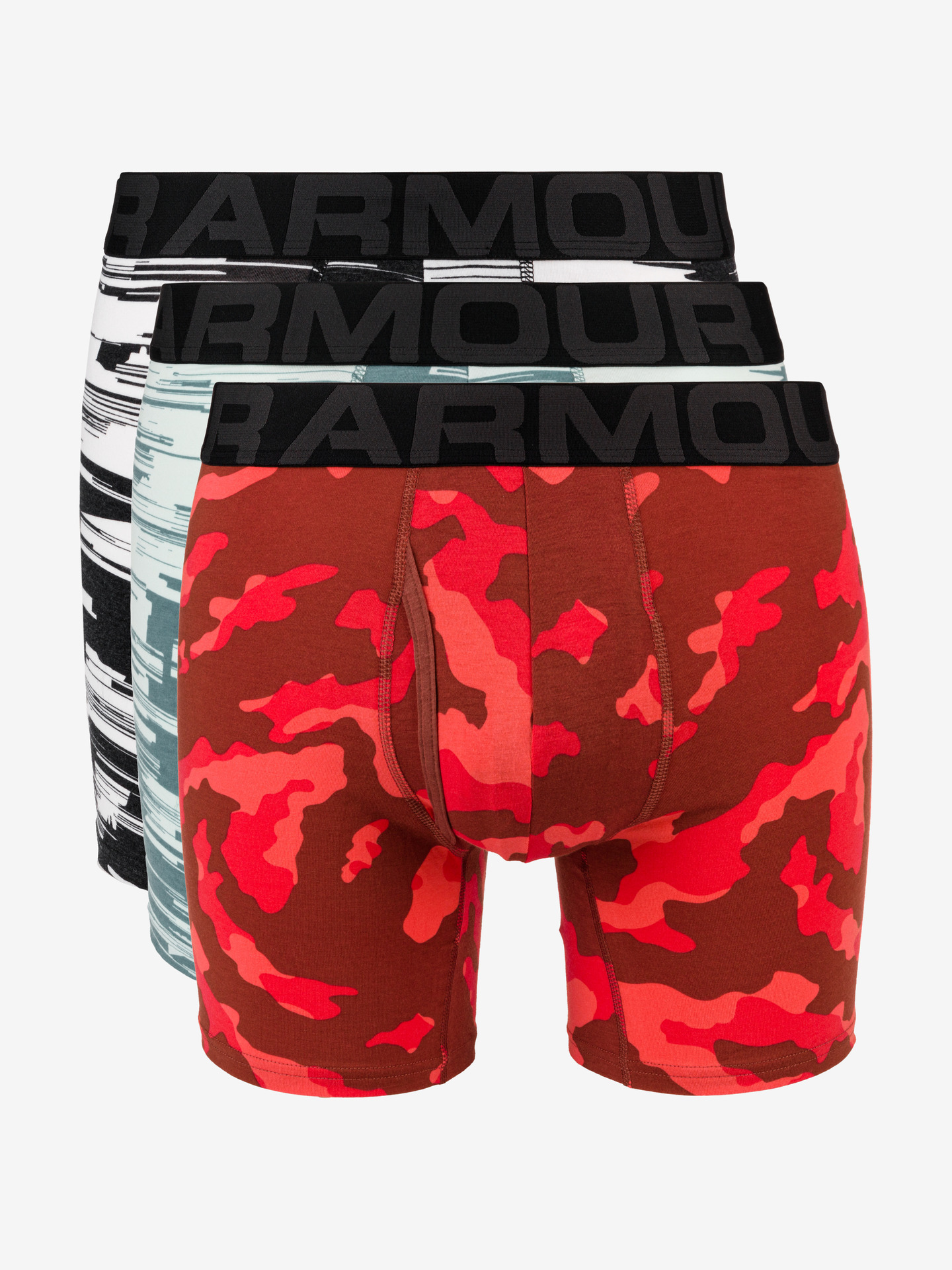 Boxerky 3 ks Under Armour Červená