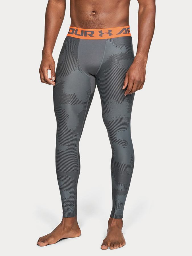 Kompresní legíny Under Armour Hg Legging Prtd Šedá