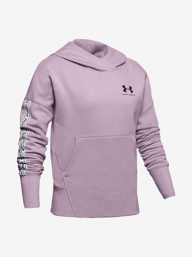 Mikina Under Armour Sportstyle Fleece Hoodie-Pnk Růžová