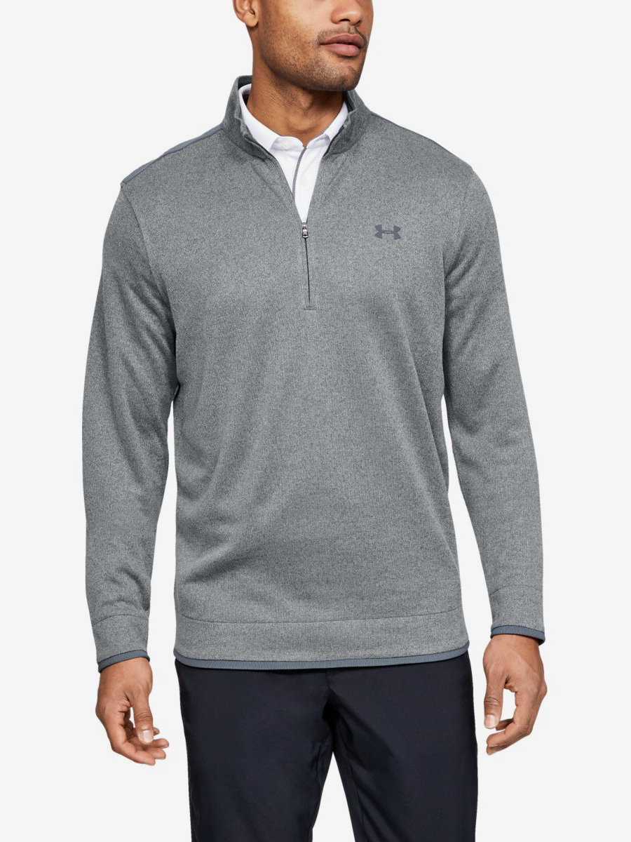 Mikina Under Armour Sweaterfleece 1/2 Zip-Gry Šedá