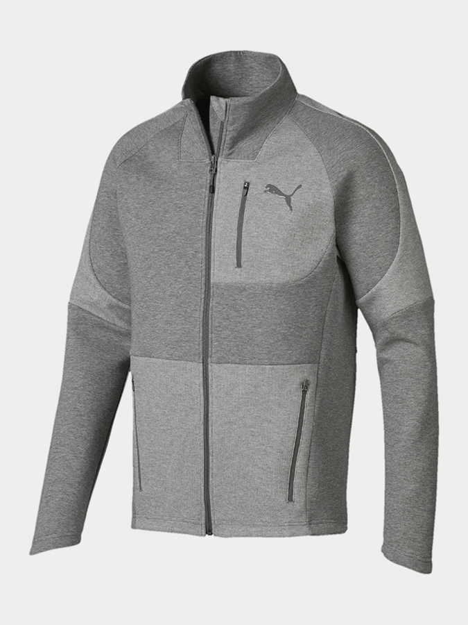 Bunda Puma Evostripe Move Jacket Medium Gray Heathe Šedá