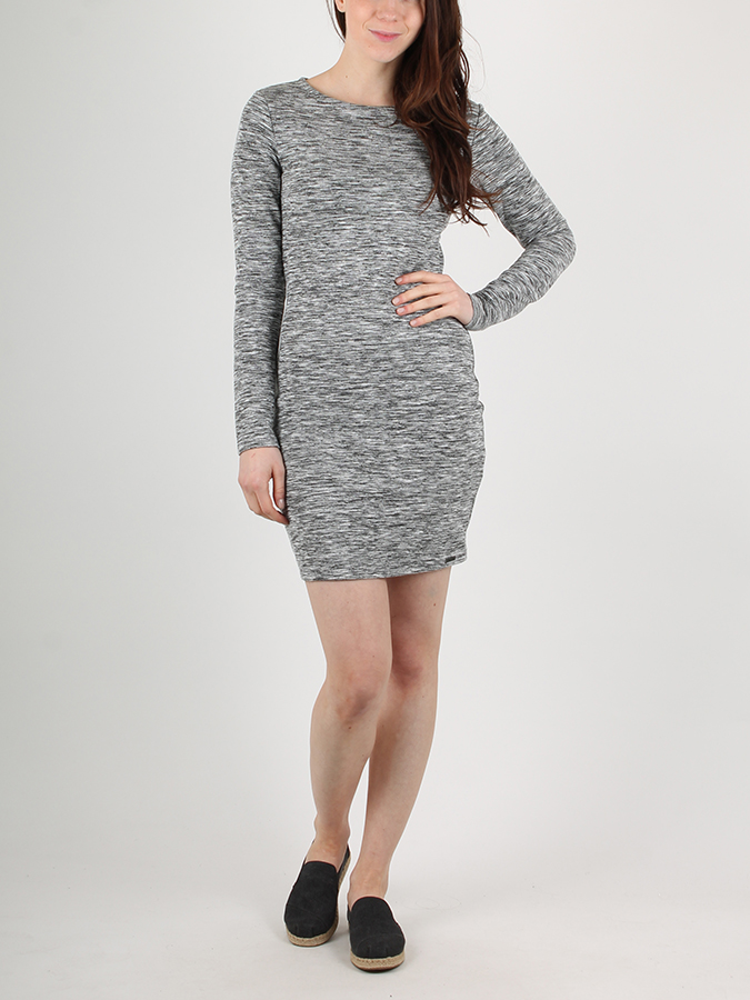 Šaty Superdry AUGUSTA BODY CON DRESS Šedá