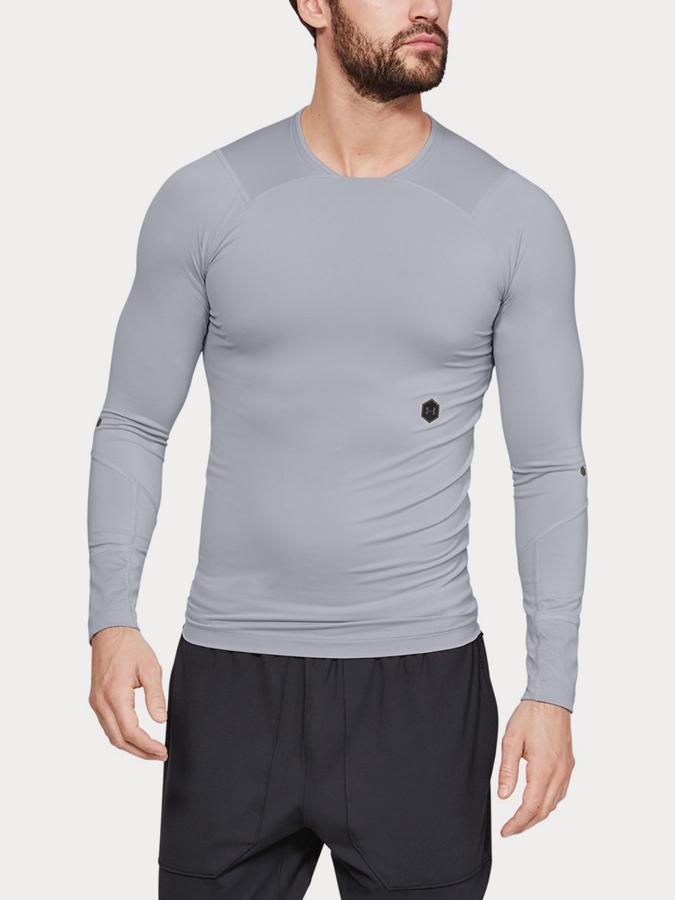 Kompresní tričko Under Armour Rush Compression Ls Šedá