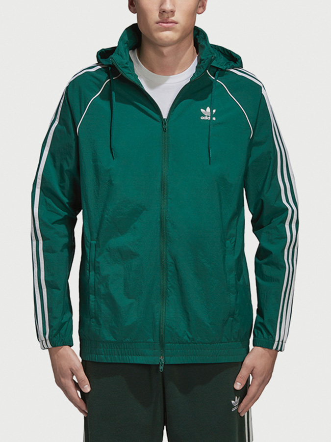 Bunda adidas Originals Sst Windbreaker Zelená