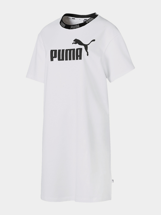 Šaty Puma Amplified Dress Bílá