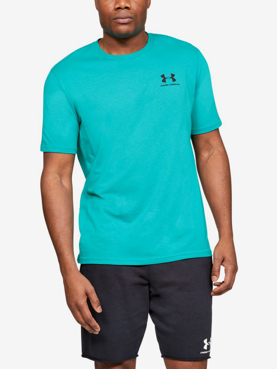 Mikina Under Armour Sportstyle Left Chest Ss-Grn Modrá