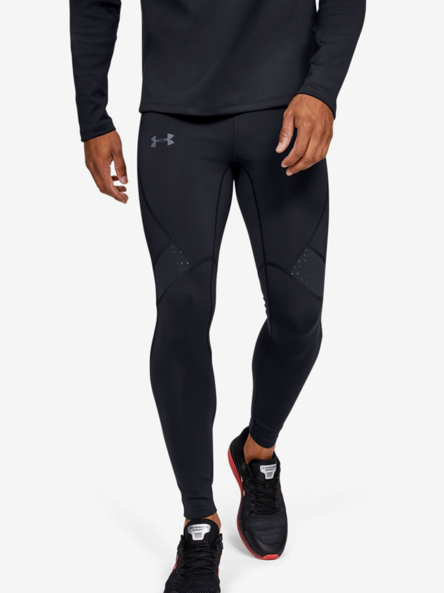 Kompresní legíny Under Armour Qualifier Coldgear Tight-Blk Černá
