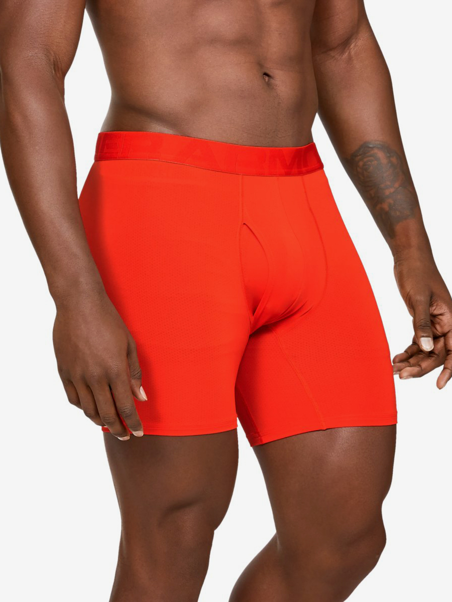 Boxerky Under Armour Tech Mesh 6In 2 Pack-Org