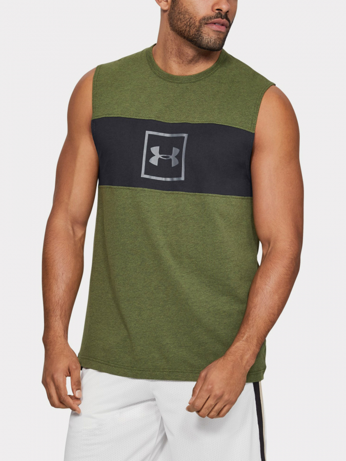 Tílko Under Armour Sportstyle Cotton Mesh Tank Zelená