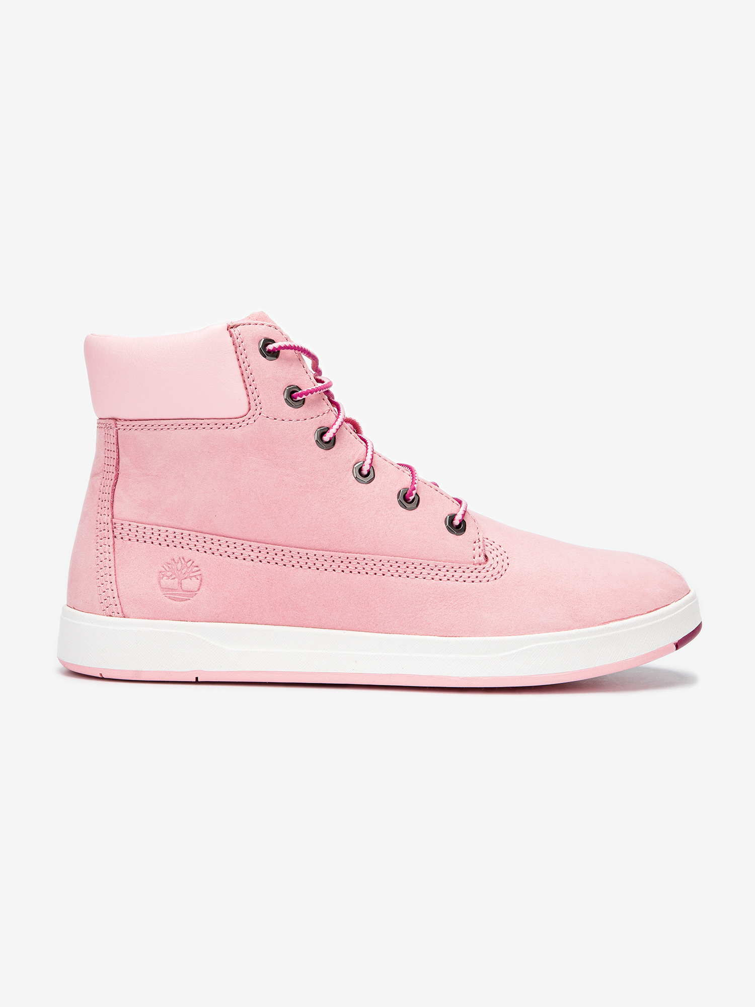 Boty Timberland Davis Square 6 Inch Prism Pink (1)