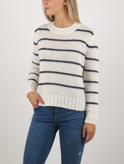 Svetr Superdry SCANDI STRIPE MOHAIR JUMPER