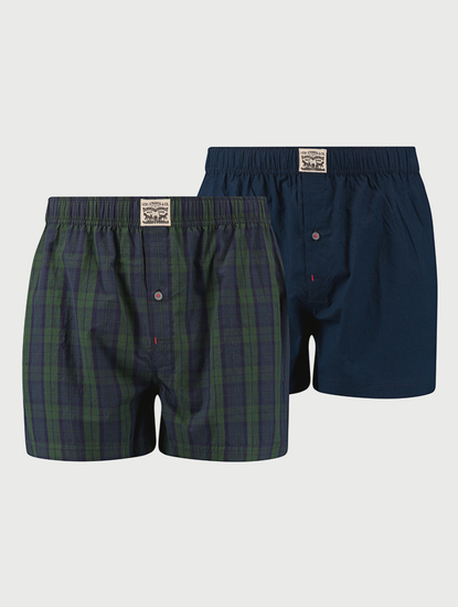 Trenýrky LEVI'S 300Ls Blackwatch Check Woven Boxer 2 Pack