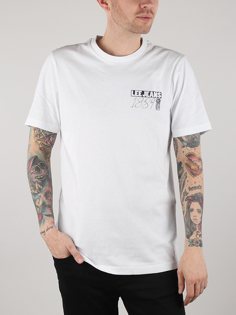Tričko Lee Graphic Tee White