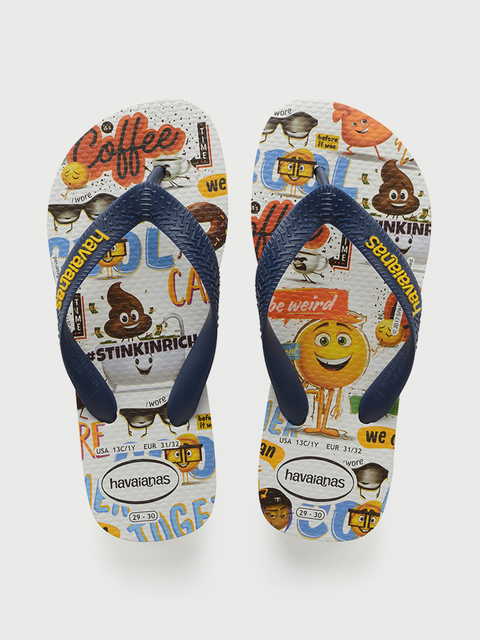Žabky Havaianas Kids Emoji Movie White