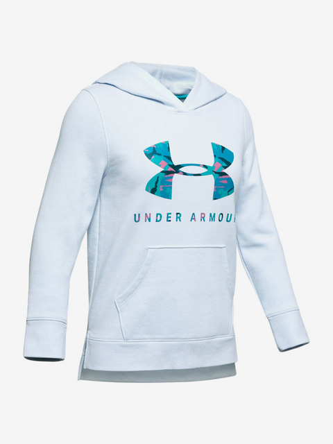 Mikina Under Armour Rival Print Fill Logo Hoodie-Blu