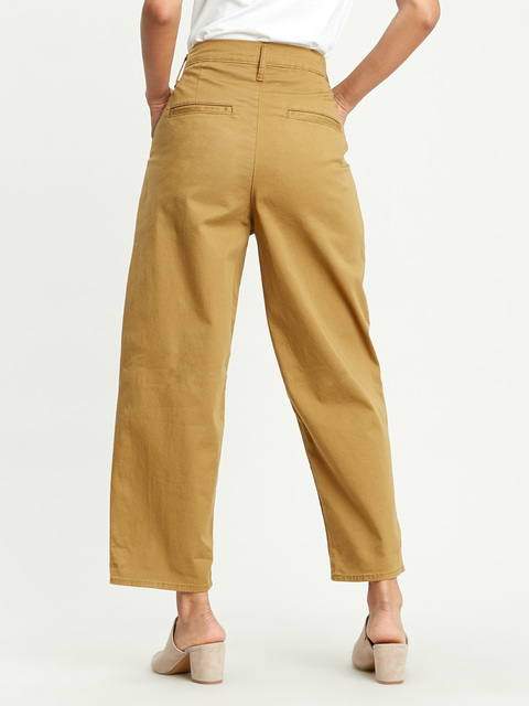 Kalhoty Levi's® Pleated Balloon Dull Gold Fine Twill