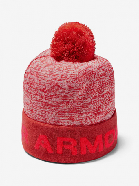 Čepice Under Armour Boy\'S Gametime Pom Beanie-Red