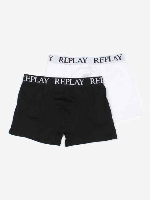 Boxerky Replay Boxer Style 01/C Basic Cuff Logo 2Pcs Box