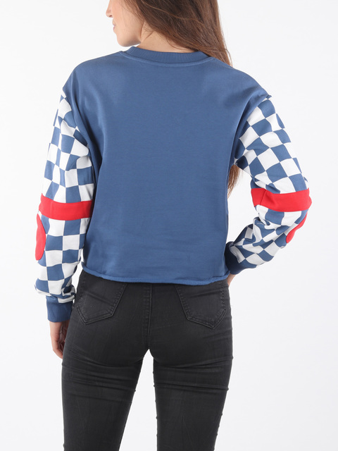 Mikina Vans Wm Bmx Crew Fleece True Navy