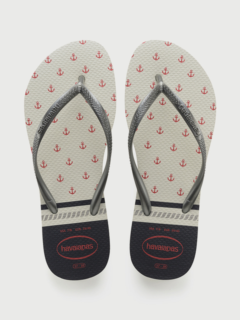 Žabky Havaianas Slim Nautical White/Graphite