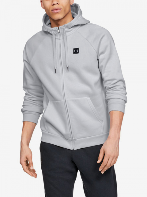 Mikina Under Armour Rival Fleece Fz Hoodie-Gry
