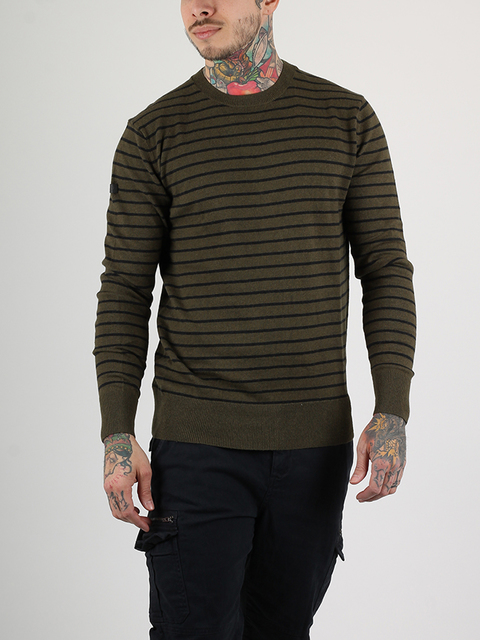 Svetr Superdry ORANGE LABEL STRIPE CREW