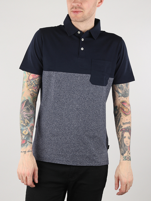 Tričko Lee Blocking Polo Navy Drop