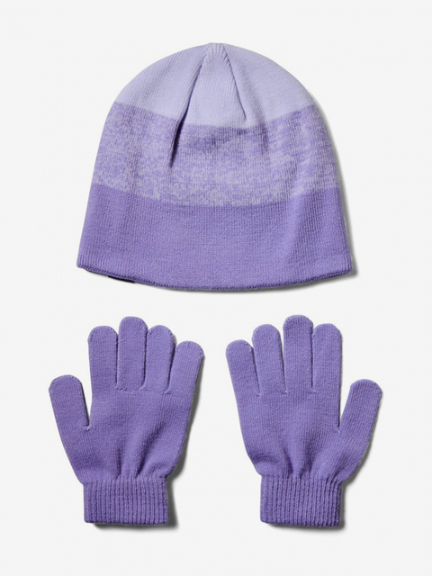 Čepice a rukavice Under Armour Girls Beanie Glove Combo-Ppl