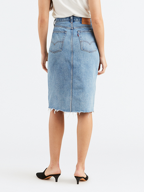 Sukně LEVI'S Deconstructed Long Skirt Original Sinner