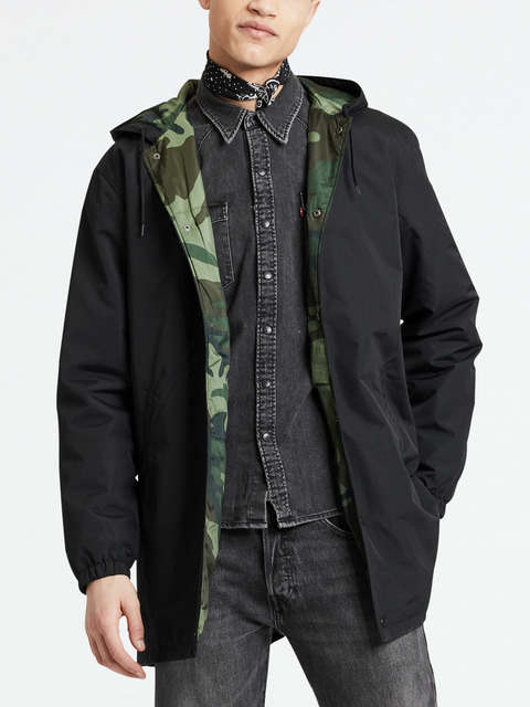 Bunda LEVI'S Hooded Coachs Jacket Caviar