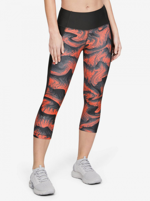 Kompresní legíny Under Armour Hg Capri Print-Org