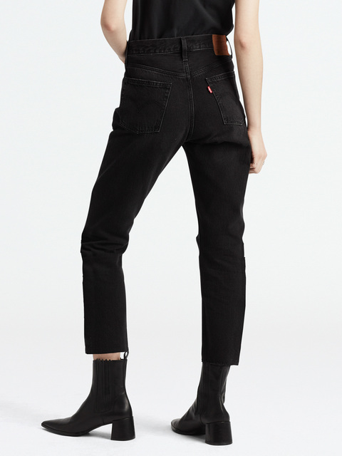 Džíny LEVI'S 501 Crop Black Heart