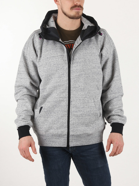 Mikina Converse MIXED MEDIA MIDWEIGHT FULL ZIP HOODIE