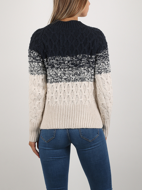 Svetr Superdry OMBRE HONEYCOMBE KNIT