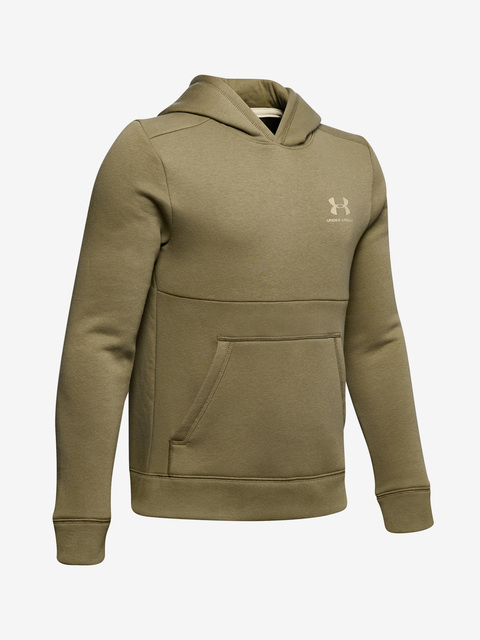 Mikina Under Armour Cotton Fleece Hoodie-Grn