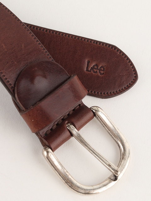 Pásek Lee Belt Dark Brown